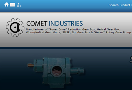 Comet Industries - Manufacturer of 'Power Drive' Reduction Gear Box, Helical Gear Box, Worm/Helical Gear Motor, SMSR, Sp. Gear Box & 'Helios' Rotary Gear Pump.